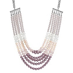 Mood - Pink tonal pearl multi row necklace