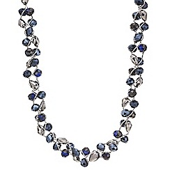 Mood - Blue beaded twist necklace