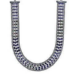 Mood - Tonal purple crystal collar necklace