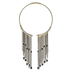 Mood - Jet beaded chain drop collar necklace
