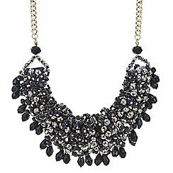 Mood - Jet cluster bead statement necklace