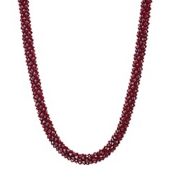 Mood - Red cluster beaded necklace