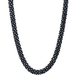Mood - Jet cluster beaded necklace
