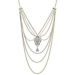 Mood - Gold ornate long body chain necklace