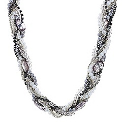 Mood - Pearl and bead twist necklace