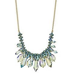 Mood - Green crystal shard beaded necklace