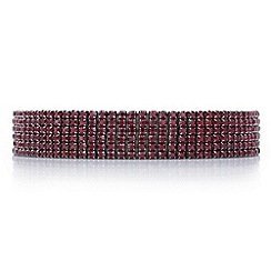 Mood - Red diamante row choker necklace