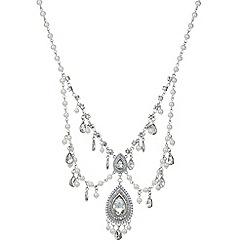 Mood - Pearl droplet teardrop double row necklace