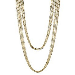 Mood - Gold bead chain multi row necklace