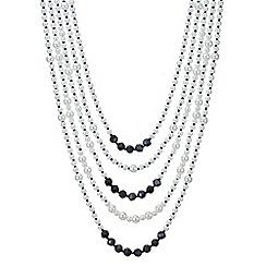 Mood - Monochrome pearl multi row necklace
