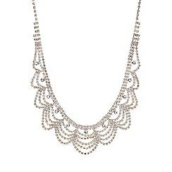 Mood - Rose gold crystal diamante bib necklace