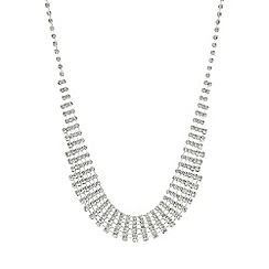 Mood - Silver crystal diamante choker necklace