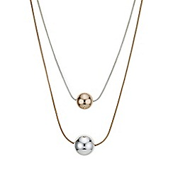 Mood - Multi tone ball drop multi row necklace