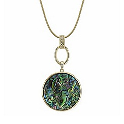 Mood - Gold abalone inspired circle necklace