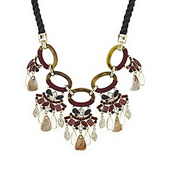Mood - Red crystal multi stone droplet necklace