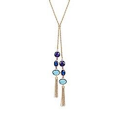 Mood - Gold multi tone lariat necklace