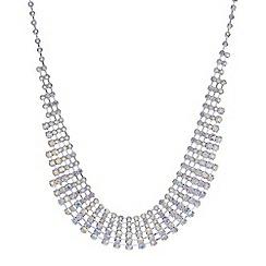 Mood - Silver crystal aurora borealis necklace