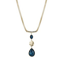 Mood - Gold abalone inspired teardrop necklace