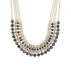 Mood - Gold multi beaded allway collar necklace