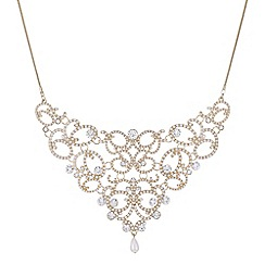 Mood - Gold crystal filigree necklace