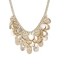 Mood - Gold textured droplet layered necklace