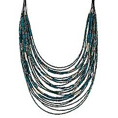 Mood - Green beaded multi row necklace