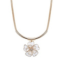 Mood - Rose gold open flower torque necklace