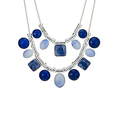 Mood - Blue tonal mixed shape necklace