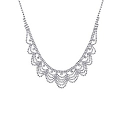 Mood - Silver crystal diamante bib necklace