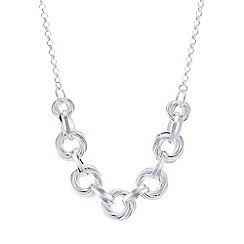 Mood - Silver knot link allway necklace