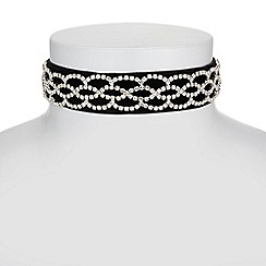 Mood - Diamante velvet choker