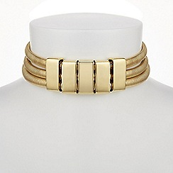 Mood - Gold multi row choker