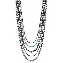 Mood - Beaded multi row necklace