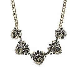 Mood - Crystal cluster statement necklace