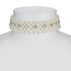 Mood - Pearl and crystal choker