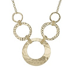Mood - Textured circle necklace