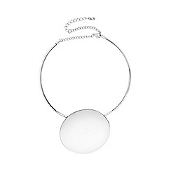 Mood - Oversized disc torque necklace