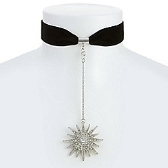 Mood - Oversized star drop choker necklace