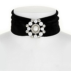 Mood - Crystal and pearl choker necklace