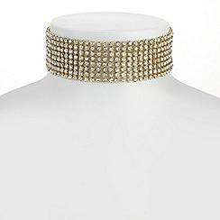 Mood - Gold diamante choker necklace