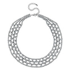 Mood - Silver diamante collar necklace