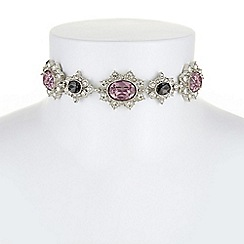 Mood - Ornate crystal choker necklace