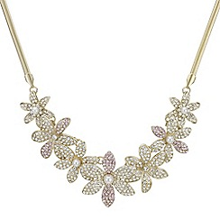 Mood - Crystal pave floral necklace