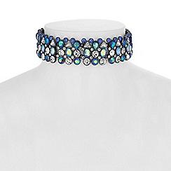Mood - Multi tone crystal choker necklace