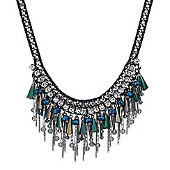 Mood - Beaded cluster droplet collar necklace