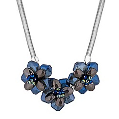 Mood - Blue statement floral necklace