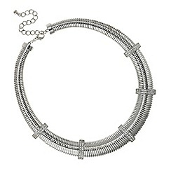 Mood - Silver pave chain link necklace