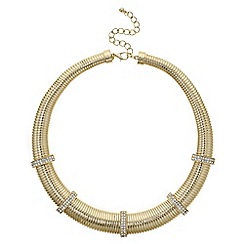 Mood - Gold pave chain link necklace