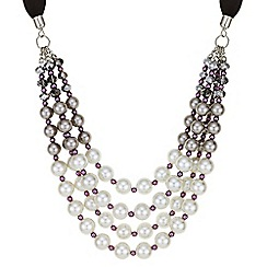 Mood - Purple tonal pearl necklace