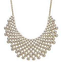 Mood - Gold ball statement necklace